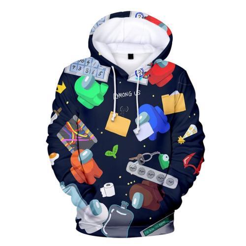 Adult Style-17 Impostor Crewmate Among Us Cartoon Game Unisex 3D Printed Hoodie Pullover Sweatshirt