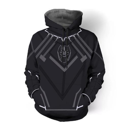 Avengers Movie T Challa Black Panther 2 Cosplay Unisex 3D Printed Hoodie Sweatshirt Pullover