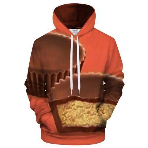 Orange Peanut Butter Cup 3D Sweatshirt Hoodie Pullover