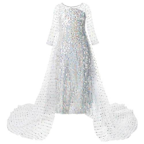 Frozen 2 Kids Girls Princess Elsa Dress Cosplay Costume Fancy Dresses