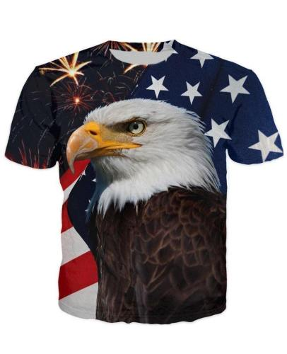 Fireworks Eagle Usa Flag T-Shirt