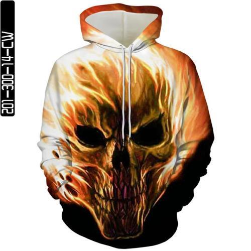Gold Skull Man Head In Wind Movie Cosplay Unisex 3D Printed Hoodie Sweatshirt Pullover