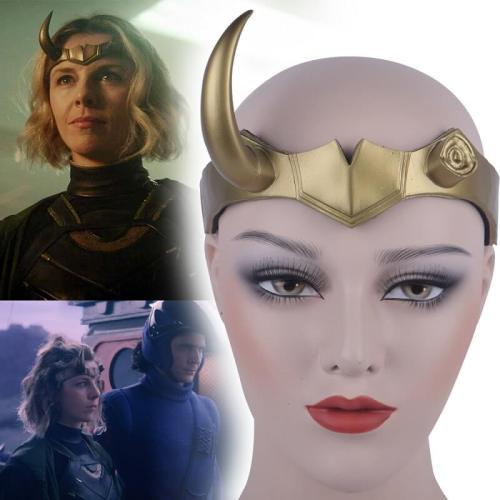 Lady Loki  Pvc Helmet Female Loki Halloween Cosplay Costume Props