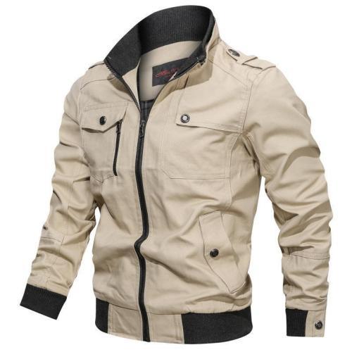 Men'S  Cotton Windbreaker Pilot Coat