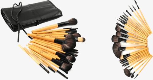 24 Piece Premium Wood Brush Set With Free Case