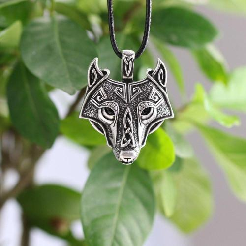 Nordic Wolf Steel Necklace