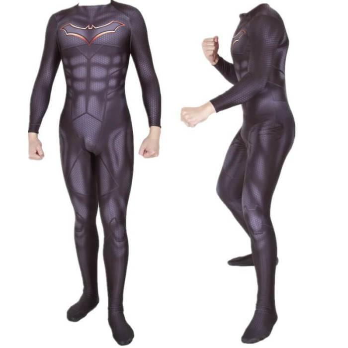 Superhero Rebirth Bruce Wayne Bodysuit Suit Jumpsuit Cosplay Costume