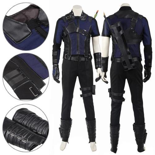 Hawkeye Clinton Francis Barton Captain America Civil War Blue Cosplay Costume