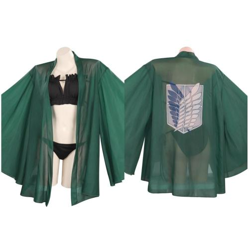 Attack On Titan Swimwear Cloak Outfits Halloween Carnival Suit Cosplay Costume