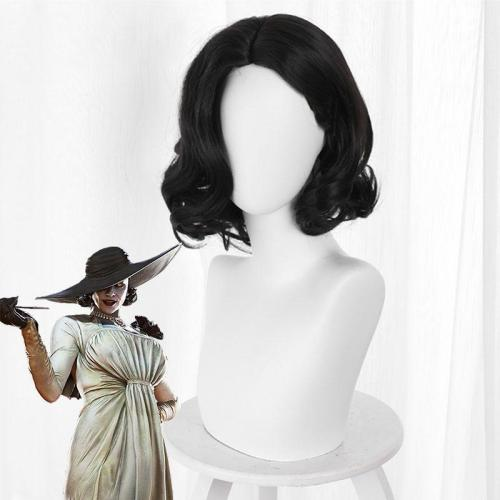 Resident Evil 8 Village Alcina Dimitrescu Vampire Lady Dimitrescu Black Cosplay Wig
