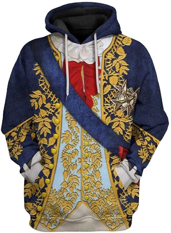 King Louis Xiv Historical Figure Unisex 3D Printed Hoodie Pullover Sweatshirt