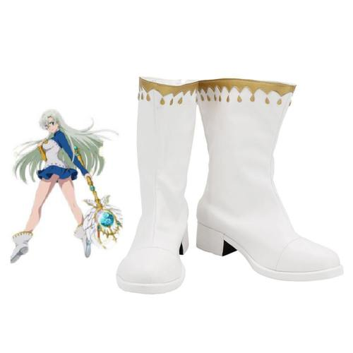 The Seven Deadly Sins Elizabeth Liones Boots Halloween Costumes Accessory Cosplay Shoes