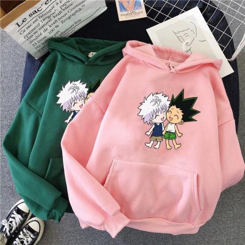 Japanese  Hunter X Hunter Cartoon Anime Hoodie Harajuku Pullovers Long Sleeve Top Sweatshirt