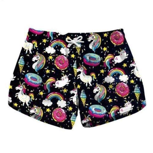 Rainbow Donut Shorts