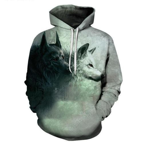 Dark Conscience Wolf 3D Sweatshirt Hoodie Pullover