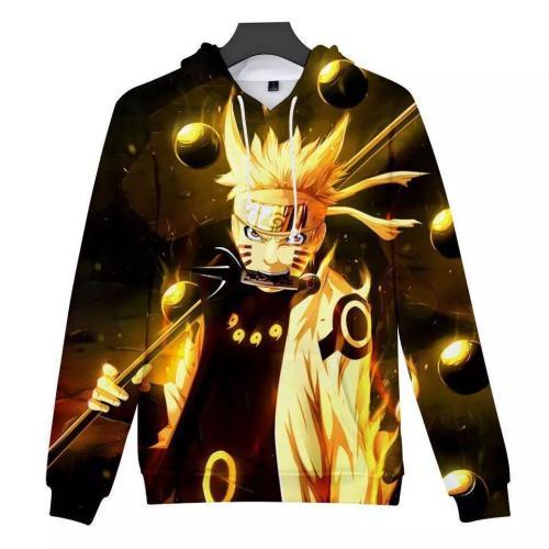 Uzumaki Naruto Anime Unisex 3D Printed Hoodie Pullover Sweatshirt