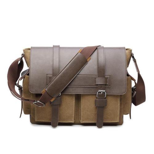 Retro Satchel Shoulder Bag Business Briefcase