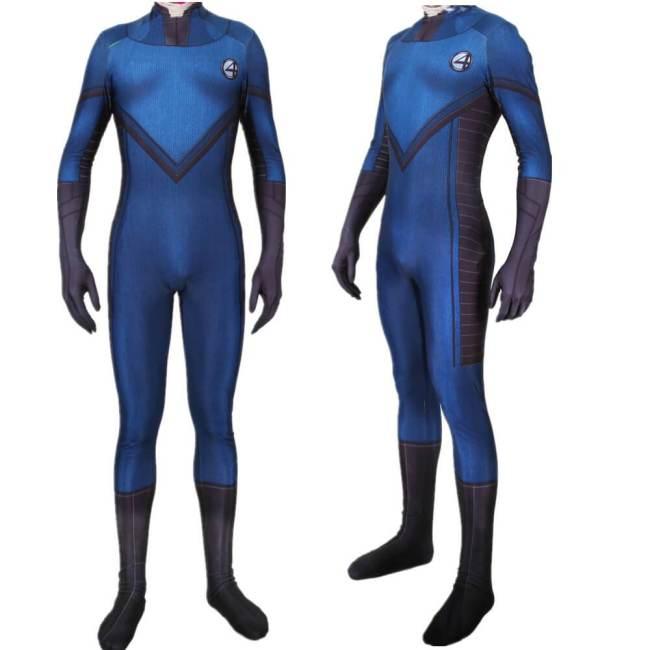 Superhero Fantastic Four Cosplay Costume Zentai Bodysuit Suit Jumpsuit