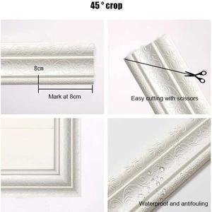 Self-Adhesive 3D Wall Edging Strip - 7.55 Feet