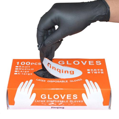 100Pcs Black Disposable Gloves