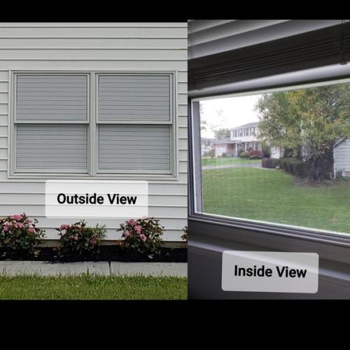 1-Way Vision Horizontal Blinds (Applies To Exterior)