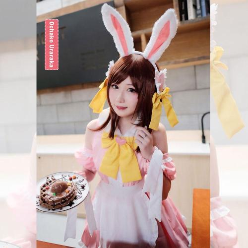 My Hero Academia Boku No Hero Akademia Ochako Uraraka Maid Halloween Cosplay Costume