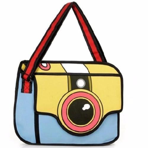 2D Cartoon Camera Bag
