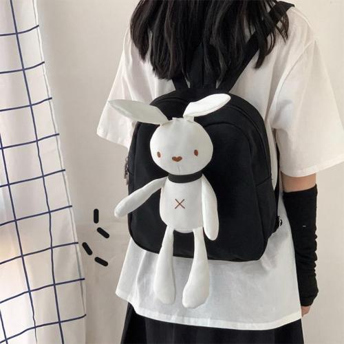 Kawaii Canvas Bunny Backpack