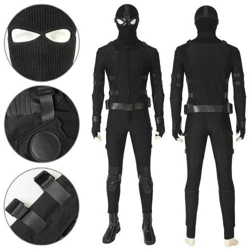 Peter Parker Ps4 Spider-Man Stealth Suit Cosplay Costume