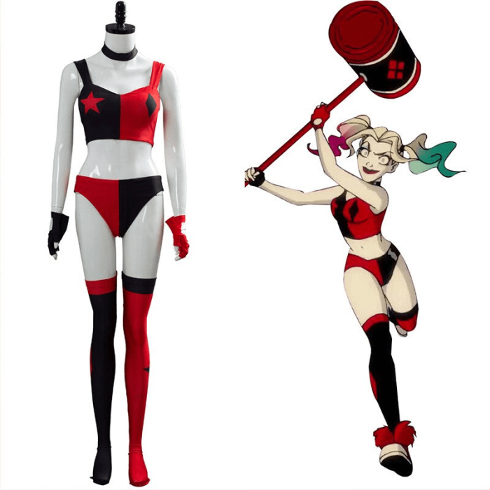 Harley Quinn Season 3 Red Outfits Uniform Tv Show Cosplay Costume