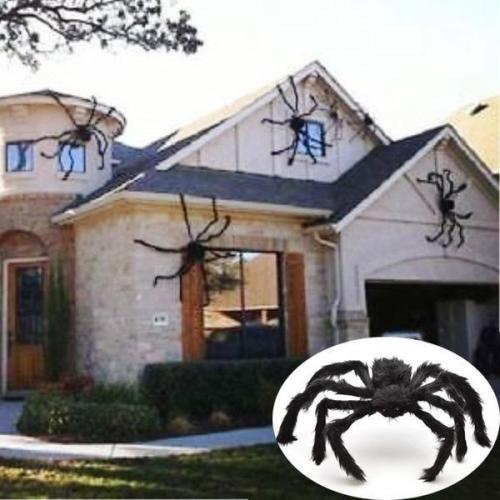 Black Spider Halloween Decoration Haunted House Prop Indoor Outdoor Giant Decor