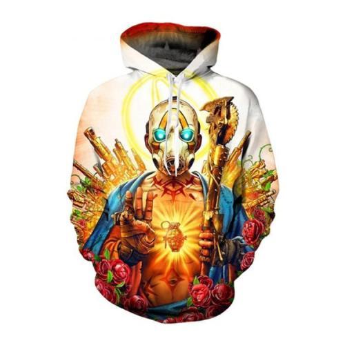 Gold Borderlands Jello Game Unisex 3D Printed Hoodie Pullover Sweatshirt