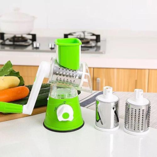 Manual Multifunctional Round Mandoline Slicer Potato Cheese Vegetable Cutter Slicer Kitchen Gadgets