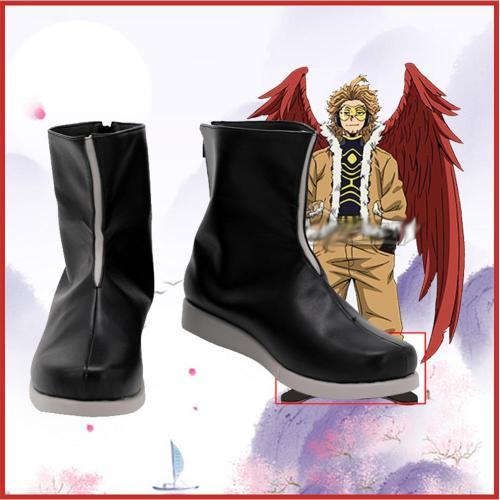 My Hero Academia Hawks Boots Halloween Costumes Accessory Custom Made Cosplay Shoes