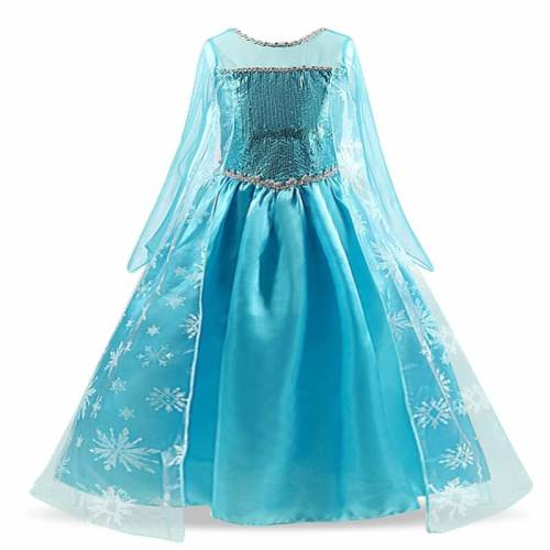 Frozen 2 Princess Elsa Girls Dress Cosplay Snow Costumes For Kids
