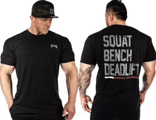 Gym Fitness Printed T Shirt Men Running Sport T-Shirt