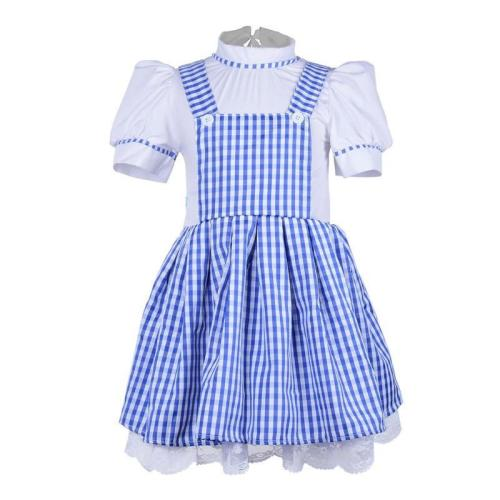 Girls Maid Wizard Of Oz Dorothy Halloween Fancy Dress Up Costume Outfit Halloween Party Cosplay For Kid Children