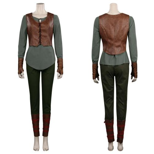 The Witcher Ciri Outfits Halloween Carnival Suit Cosplay Costume