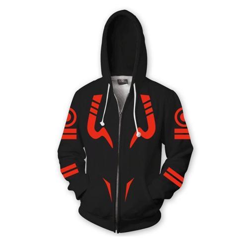 Jujutsu Kaisen Gojo Satoru Anime Red Stripes Unisex 3D Printed Hoodie Sweatshirt Jacket With Zipper