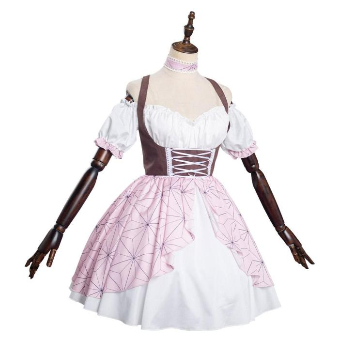 Demon Slayer Kamado Nezuko Lolita Dress Cosplay Costume