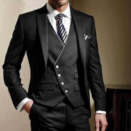 ( Jackets + Vest + Pants ) Fashion Groom Wedding Business 3 Piece Suits