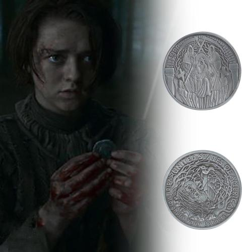 Cosplay Game Of Thrones Arya Many-Faced God Coin Metal Halloween Accessories Props