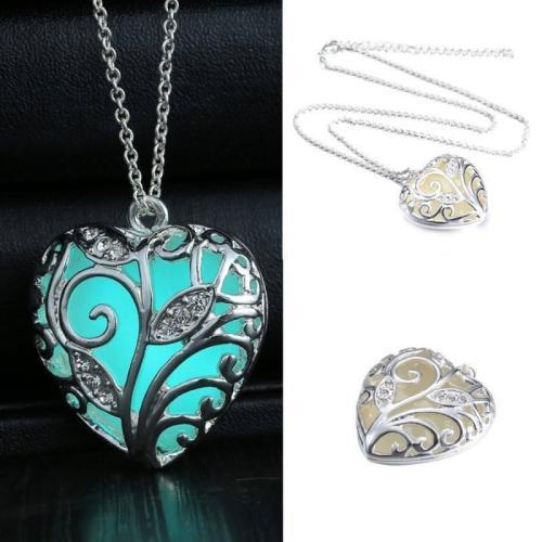 Luminous Heart Steel Necklace