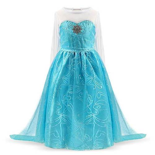 Kids Princess Dress Snow Queen 2 Elsa Party Cosplay Costume For Girls