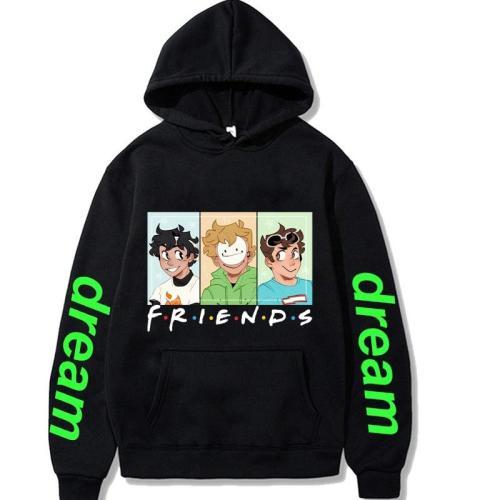 Hip Hop Streetwear Dream Team Graphic Hoodie Pullover Sweatshirt