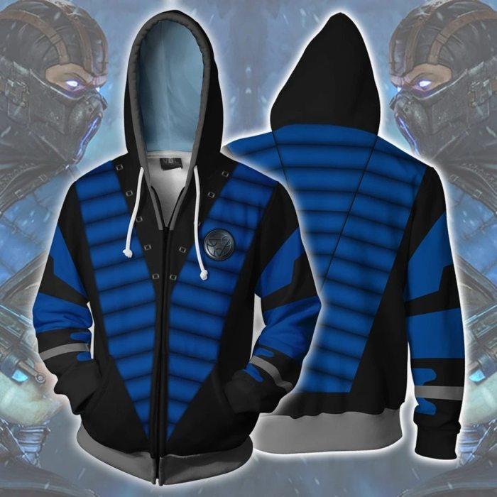 Mortal Kombat 11 Game Mkx Absolute Zero Hoodie Halloween Cosplay Outfit Hoodies Sweatshirt Jacket With Zipper