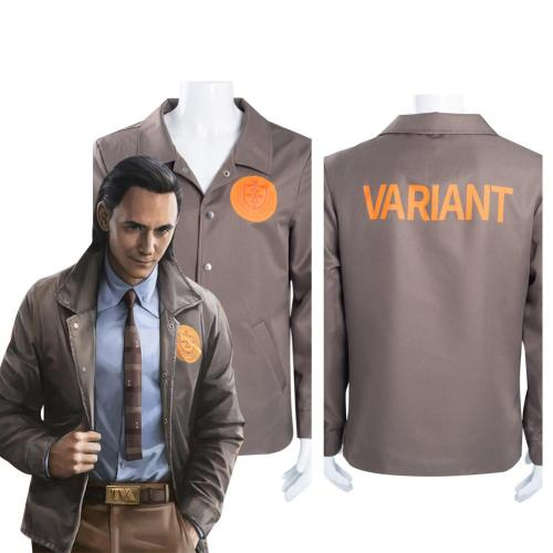 Loki Time Variance Authority Coat Halloween Carnival Suit Cosplay Costume