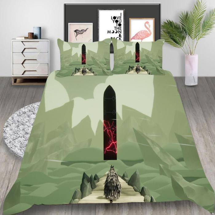 Death'S Door Cosplay Bedding Set Duvet Cover Pillowcases Halloween Home Decor