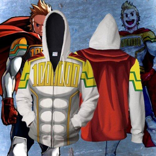 My Hero Academy 000 White Muscle Anime Unisex 3D Printed Hoodie Sweatshirt Jacket With Zipper