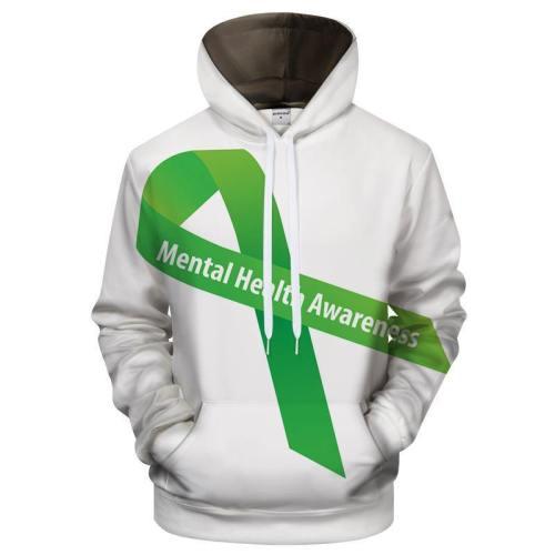Green Ribbon 3D - Sweatshirt, Hoodie, Pullover